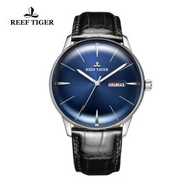 Classic Heritor Blue Dial Steel Mens Automatic Watch