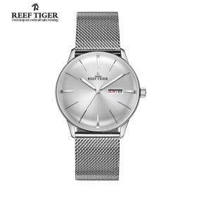 Classic Heritor White Dial Steel Mens Automatic Watch