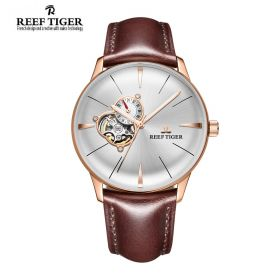 Classic Glory White Dial Rose Gold Mens Automatic Watch