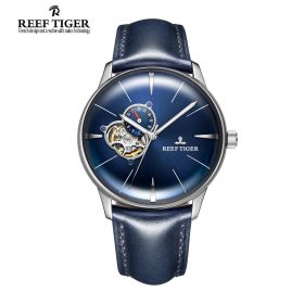 Classic Glory Blue Dial Steel Mens Automatic Watch