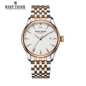 Classic Heritage Rose Gold White Dial Mens Automatic Watch