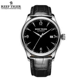 Classic Heritage Black Dial Stainless Steel Mens Automatic Watch