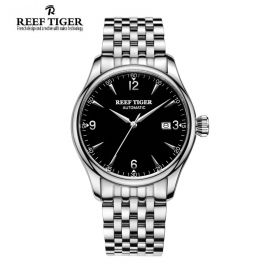 Classic Heritage Steel Black Dial Mens Automatic Watch