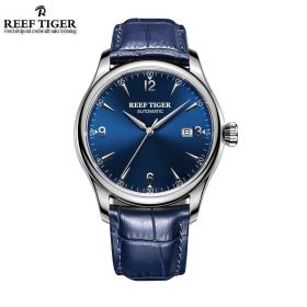 Classic Heritage Blue Dial Stainless Steel Mens Automatic Watch