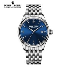 Classic Heritage Steel Blue Dial Mens Automatic Watch