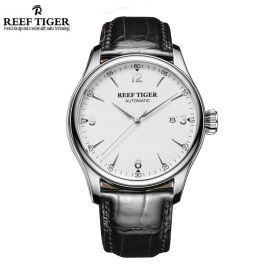 Classic Heritage White Dial Stainless Steel Mens Automatic Watch