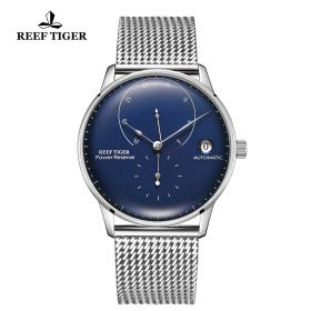Seattle Navy II Blue Dial Stainless Steel Bracelet Automatic Watch