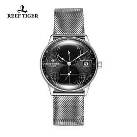 Seattle Navy Black Dial Steel Steel Bracelet Automatic Watch
