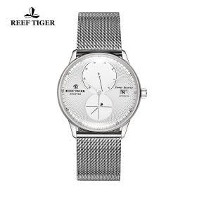 Seattle Navy White Dial Steel Steel Bracelet Automatic Watch