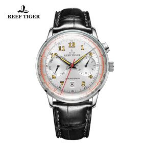 Respect Limited Edition White Dial Leather Strap Automatic Watch